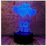 3D светильник сердце