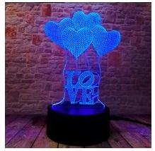 3D светильник оптом, модель сердце